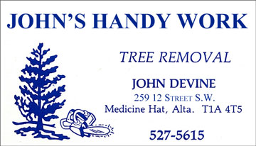 John's First Business Card