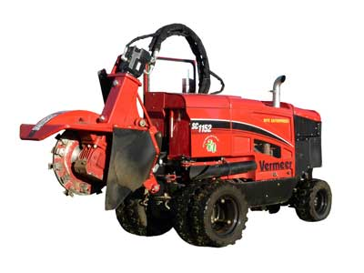 Vermeer remote control stump grinder